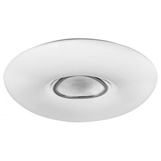 RABALUX 3328 | Tayla Rabalux stropne svjetiljke svjetiljka okrugli daljinski upravljač jačina svjetlosti se može podešavati, sa podešavanjem temperature boje 1x LED 4200lm 3000 <-> 6500K bijelo, krom, učinak kristala