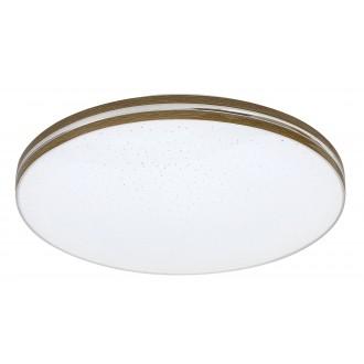 RABALUX 3345 | Oscar_RA Rabalux stropne svjetiljke svjetiljka okrugli 1x LED 1350lm 3000K boja oraha, bijelo, svjetlucavi