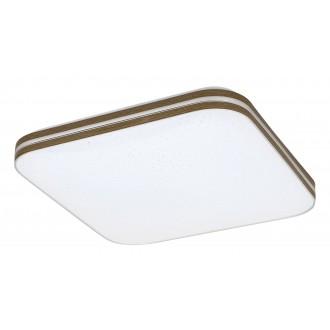 RABALUX 3346 | Oscar_RA Rabalux stropne svjetiljke svjetiljka četvrtast 1x LED 1350lm 3000K boja oraha, bijelo, svjetlucavi