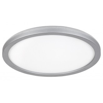 RABALUX 3358 | Lambert Rabalux stropne svjetiljke svjetiljka okrugli 1x LED 1500lm 4000K IP44 srebrno, bijelo