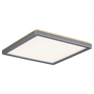 RABALUX 3359 | Lambert Rabalux stropne svjetiljke svjetiljka četvrtast 1x LED 1500lm 4000K IP44 srebrno, bijelo