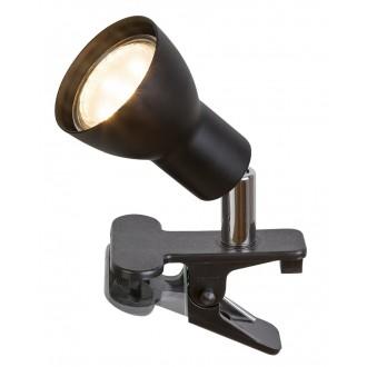 RABALUX 3475 | Fred Rabalux svjetiljke sa štipaljkama svjetiljka sa prekidačem na kablu elementi koji se mogu okretati 1x GU10 250lm 3000K crno mat