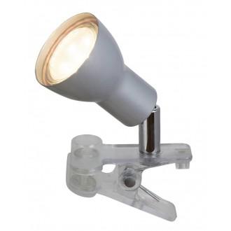 RABALUX 3476 | Fred Rabalux svjetiljke sa štipaljkama svjetiljka sa prekidačem na kablu elementi koji se mogu okretati 1x GU10 250lm 3000K srebrno