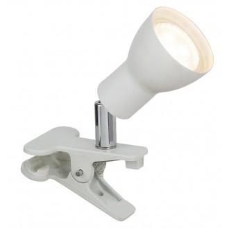 RABALUX 3477 | Fred Rabalux svjetiljke sa štipaljkama svjetiljka sa prekidačem na kablu elementi koji se mogu okretati 1x GU10 250lm 3000K bijelo mat