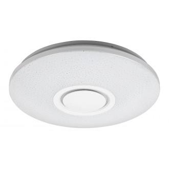 RABALUX 3509 | Rabalux-Smart-Rodion Rabalux stropne svjetiljke smart rasvjeta okrugli daljinski upravljač zvučnik, jačina svjetlosti se može podešavati, promjenjive boje, sa podešavanjem temperature boje, Bluetooth, timer, spajanje na Wi-Fi, noćno svjetlo