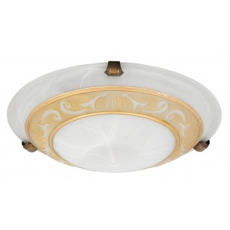RABALUX 3713 | Laretta Rabalux zidna, stropne svjetiljke svjetiljka 1x E27 alabaster, bronca