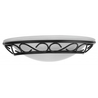 RABALUX 3721 | Athen Rabalux zidna svjetiljka 1x E14 crno, bijelo alabaster