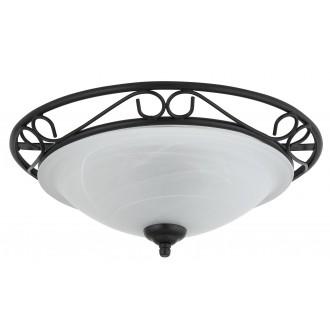 RABALUX 3722 | Athen Rabalux stropne svjetiljke svjetiljka 2x E27 crno, bijelo alabaster