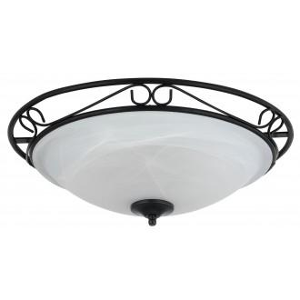 RABALUX 3723 | Athen Rabalux stropne svjetiljke svjetiljka 3x E27 crno, bijelo alabaster
