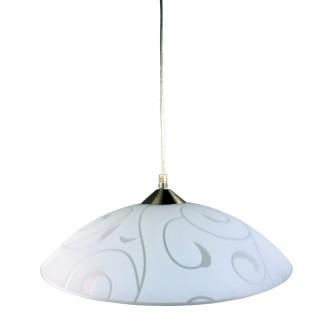 RABALUX 3856 | Harmony_lux1 Rabalux visilice svjetiljka 1x E27 sa bijelim patternom, krom