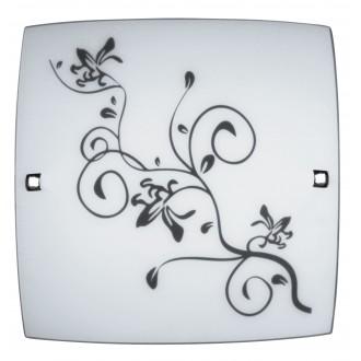 RABALUX 3892 | Blossom Rabalux zidna, stropne svjetiljke svjetiljka 1x E27 krom, sa bijelim patternom, crno