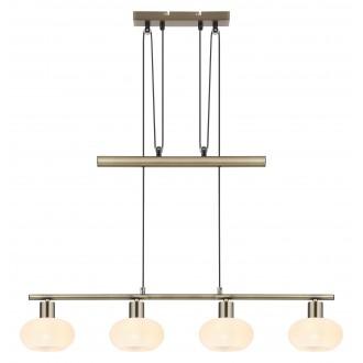 RABALUX 3917 | Sorina Rabalux visilice svjetiljka balansna - ravnotežna, sa visinskim podešavanjem 4x E14 antik brončano, opal