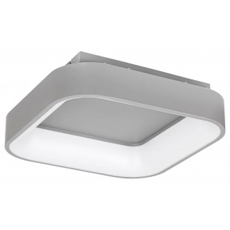 RABALUX 3926 | Adeline Rabalux stropne svjetiljke svjetiljka četvrtast daljinski upravljač jačina svjetlosti se može podešavati, sa podešavanjem temperature boje, Bluetooth, noćno svjetlo 1x LED 1800lm 3000 <-> 6000K sivo, bijelo