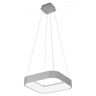 RABALUX 3927 | Adeline Rabalux visilice svjetiljka četvrtast daljinski upravljač jačina svjetlosti se može podešavati, sa podešavanjem temperature boje, Bluetooth, noćno svjetlo 1x LED 1800lm 3000 <-> 6000K sivo, bijelo