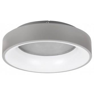 RABALUX 3928 | Adeline Rabalux stropne svjetiljke svjetiljka okrugli daljinski upravljač jačina svjetlosti se može podešavati, sa podešavanjem temperature boje, Bluetooth, noćno svjetlo 1x LED 1500lm 3000 <-> 6000K sivo, bijelo