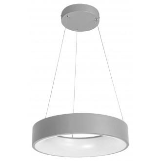 RABALUX 3929 | Adeline Rabalux visilice svjetiljka okrugli daljinski upravljač jačina svjetlosti se može podešavati, sa podešavanjem temperature boje, Bluetooth, noćno svjetlo 1x LED 1500lm 3000 <-> 6000K sivo, bijelo