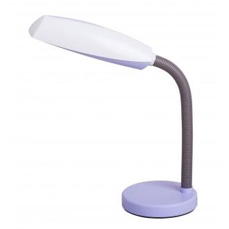 RABALUX 4151 | Dean Rabalux stolna svjetiljka 35cm sa prekidačem na kablu fleksibilna 1x E27 ljubičasta, bijelo, sivo