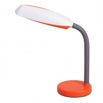 RABALUX 4153 | Dean Rabalux stolna svjetiljka 35cm s prekidačem fleksibilna 1x E27 narančasto, bijelo, sivo