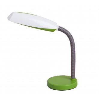 RABALUX 4154 | Dean Rabalux stolna svjetiljka 35cm sa prekidačem na kablu fleksibilna 1x E27 zeleno, bijelo, sivo