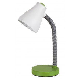 RABALUX 4173 | Vincent Rabalux stolna svjetiljka 39,5cm sa prekidačem na kablu fleksibilna 1x E27 400lm 3000K zeleno, sivo, bijelo