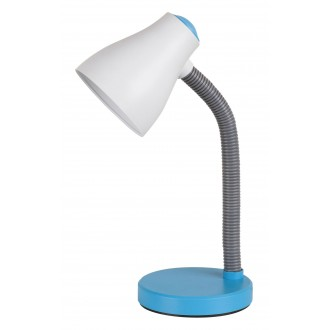 RABALUX 4174 | Vincent Rabalux stolna svjetiljka 39,5cm sa prekidačem na kablu fleksibilna 1x E27 400lm 3000K plavo, sivo, bijelo