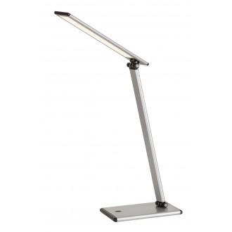 RABALUX 4182 | Brooke Rabalux stolna svjetiljka 46cm sa tiristorski dodirnim prekidačem jačina svjetlosti se može podešavati, elementi koji se mogu okretati 1x LED 480lm 3000K srebrno