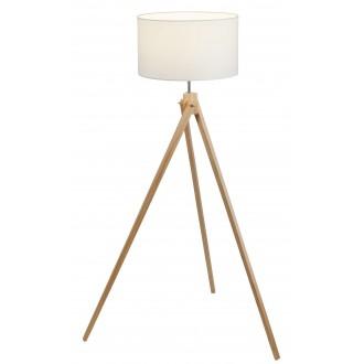 RABALUX 4189 | SorenR Rabalux podna svjetiljka 134cm sa prekidačem na kablu 1x E27 bijelo, bukva