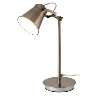 RABALUX 4193 | Martina Rabalux stolna svjetiljka 48cm sa prekidačem na kablu elementi koji se mogu okretati 1x E27 bronca