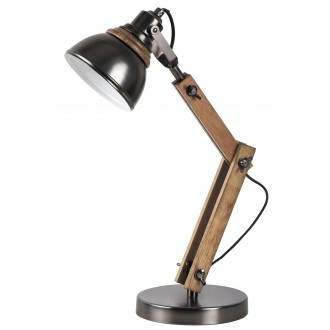 RABALUX 4199   Aksel Rabalux stolna svjetiljka 47,5cm sa prekidačem na kablu elementi koji se mogu okretati 1x E14 bukva, crno