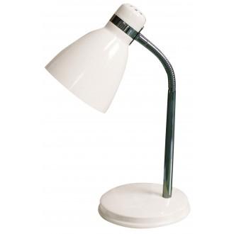 RABALUX 4205 | Patric Rabalux stolna svjetiljka 32cm sa prekidačem na kablu fleksibilna 1x E14 bijelo, krom