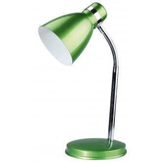 RABALUX 4208 | Patric Rabalux stolna svjetiljka 32cm sa prekidačem na kablu fleksibilna 1x E14 zeleno, krom