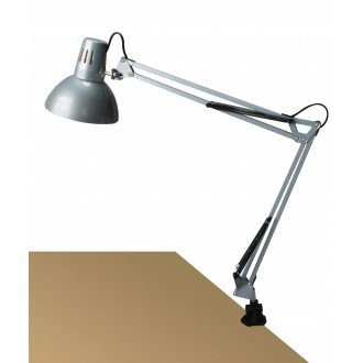 RABALUX 4216 | Arno Rabalux sa navojem svjetiljka sa prekidačem na kablu elementi koji se mogu okretati 1x E27 srebrno