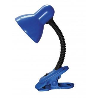 RABALUX 4260 | Dennis Rabalux svjetiljke sa štipaljkama svjetiljka s prekidačem fleksibilna 1x E27 plavo, crno