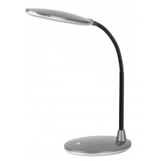 RABALUX 4297 | Oliver Rabalux stolna svjetiljka 38cm s prekidačem fleksibilna 1x LED 350lm 6400K srebrno, crno