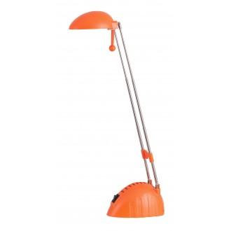 RABALUX 4337 | Ronald Rabalux stolna svjetiljka 28cm s prekidačem elementi koji se mogu okretati, s podešavanjem visine 1x LED 350lm 6400K narančasto, krom