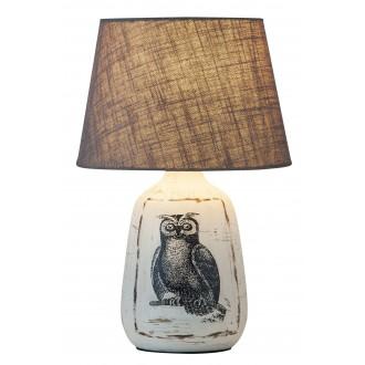 RABALUX 4373 | Dora Rabalux stolna svjetiljka 38cm sa prekidačem na kablu 1x E27 bijelo, sivo