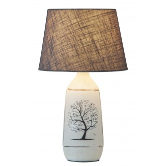 RABALUX 4374 | Dora Rabalux stolna svjetiljka 40cm sa prekidačem na kablu 1x E27 bijelo, sivo