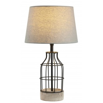 RABALUX 4385 | Ava Rabalux stolna svjetiljka 48cm sa prekidačem na kablu 1x E27 beton, crno