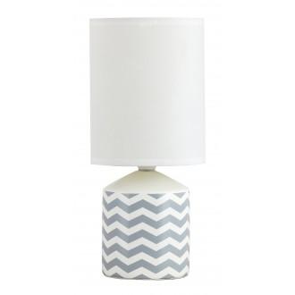 RABALUX 4397 | SophieR Rabalux stolna svjetiljka 30cm sa prekidačem na kablu 1x E14 bijelo, šare