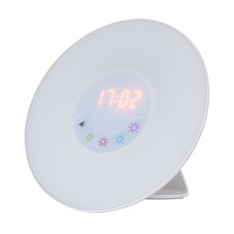 RABALUX 4423 | Rabalux-Smart-Penelope Rabalux dekoracija smart rasvjeta sa tiristorski dodirnim prekidačem budilica, zvučnik, radio FM, promjenjive boje, USB utikač 1x LED + 1x LED bijelo
