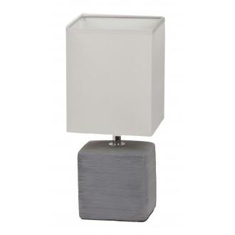 RABALUX 4458 | OrlandoR Rabalux stolna svjetiljka 33cm sa prekidačem na kablu 1x E14 sivo, bezbojno