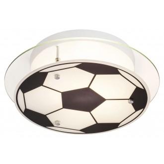 RABALUX 4466 | Frankie-Football Rabalux zidna, stropne svjetiljke svjetiljka 1x E27 krom, crno, bijelo