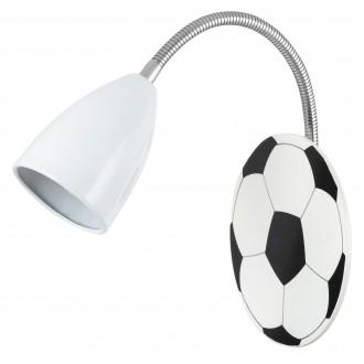 RABALUX 4467 | Frankie-Football Rabalux zidna svjetiljka fleksibilna 1x E14 krom, crno, bijelo