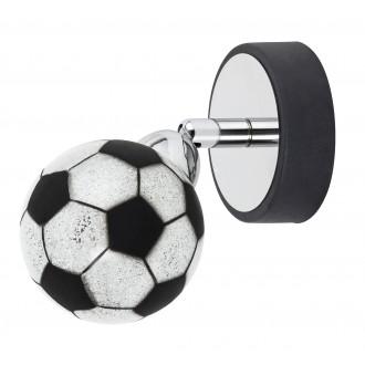 RABALUX 4471 | Frankie-Football Rabalux zidna, stropne svjetiljke svjetiljka elementi koji se mogu okretati 1x G9 400lm 4000K krom, crno, bijelo