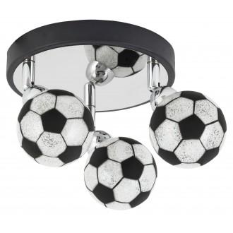 RABALUX 4473 | Frankie-Football Rabalux zidna, stropne svjetiljke svjetiljka elementi koji se mogu okretati 3x G9 1200lm 4000K krom, crno, bijelo