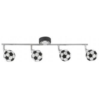 RABALUX 4474 | Frankie-Football Rabalux zidna, stropne svjetiljke svjetiljka elementi koji se mogu okretati 4x G9 1600lm 4000K krom, crno, bijelo