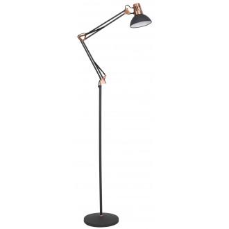 RABALUX 4523   Gareth Rabalux podna svjetiljka 171,5cm sa prekidačem na kablu elementi koji se mogu okretati, s podešavanjem visine 1x E27 crno mat, crveni bakar, bijelo