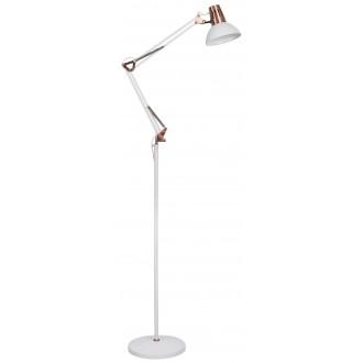 RABALUX 4525   Gareth Rabalux podna svjetiljka 171,5cm sa prekidačem na kablu elementi koji se mogu okretati, s podešavanjem visine 1x E27 bijelo mat, crveni bakar