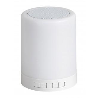 RABALUX 4534 | Kendall Rabalux stolna svjetiljka 12,7cm sa tiristorski dodirnim prekidačem zvučnik, jačina svjetlosti se može podešavati, promjenjive boje 1x LED 60lm RGBK bijelo
