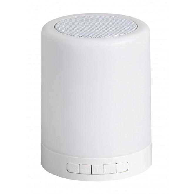 RABALUX 4534 | Rabalux-Smart-Kendall Rabalux stolna smart rasvjeta 12,7cm sa tiristorski dodirnim prekidačem zvučnik, jačina svjetlosti se može podešavati, promjenjive boje 1x LED 60lm RGBK bijelo